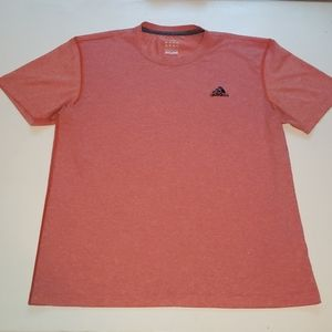 Adidas brand heathered orange t-shirt men's size L